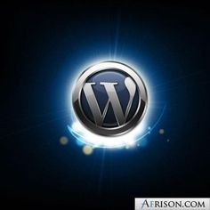 wordpress logo 3d shine