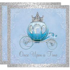 Cinderella Once Upon a Time Princess Birthday Card