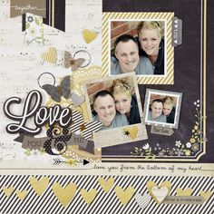#papercraft #scrapbook #layout.  NEW Simple Stories The Story of Us - Scrapbook.com - Made with Simple Stories The Story of Us collection.