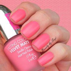 PUPA Dot Shock Lasting Color Velvet Matt Nail Polish, 002 Fair Pink
