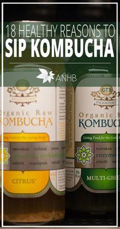 18 Healthy Reasons to Sip Kombucha - All Natural Home and Beauty #kombucha Also check out: http://kombuchaguru.com