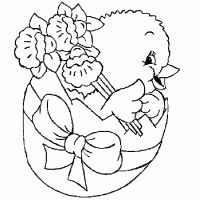 Easter Chick free printable coloring