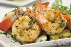 Receita de Camarão ao alho e óleo diferente em receitas de crustaceos, veja essa e outras receitas aqui!