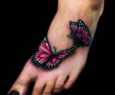 3D butterfly tattoo 8 - 65 3D butterfly tattoos   <3