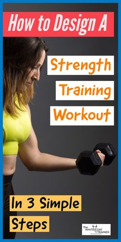 In this post, you will learn how to design a strength training workout that will target the full body. You can use this workout at home or at the gym and is perfect for building muscle and fat burning! Strength Training Program, Training Programs, Workout Programs, Training Fitness, Leg Training, At Home Workouts, Fun Workouts, Body Workouts, Workout Tips