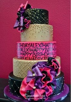 Bright & Ruffled birthday cake!