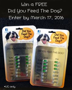 #Giveaway Did You Feed The Dog? #sponsored