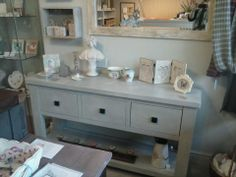 A modern piece of Next furniture upcyled using 'Paris Grey' Chalk Paint™ decorative paint by Annie Sloan.