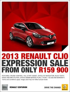 2013 Renault Clio Expression from R159 900.