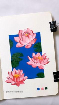 Flower Art Drawing, Art Painting Gallery, Mini Canvas Art, Art Drawings Sketches Simple, Gouache Painting, Acrylic Painting Flowers, Watercolor Art Lessons, Aspen Colorado, Photoshop Illustrator