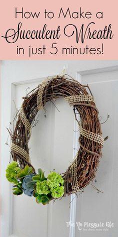 This DIY succulent w