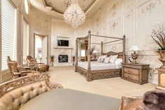 Luxury dream home master bedroom Crown Jewel of Palm Royale – $12,800,000