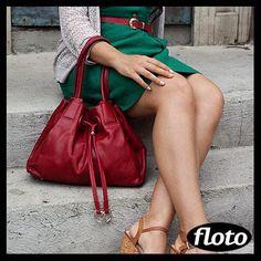 Floto Sorrento Bag in Red - http://www.flotoimports.com/SorrentoLeatherBag.html     #itsaflotobag