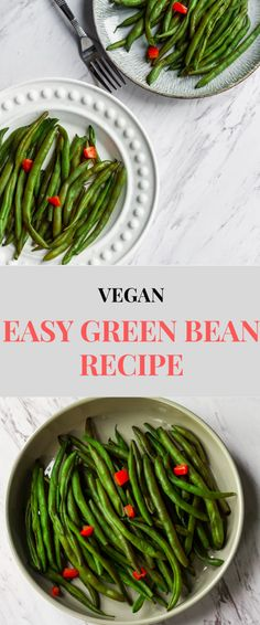 The best sautéed vegan green bean recipe. This southern side dish is fresh and perfect for thanksgiving or any occasion. Add bell pepper, onions, garlic or almonds. Add potatoes for an even heartier recipe. Vegan Meal Plans, Vegan Meal Prep, Vegan Lunches, Vegetarian Lunch, Easy Green Bean Recipes, Vegan Recipes, Vegan Food, Side Recipes, Fall Recipes