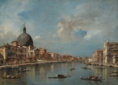 Francesco Guardi The Grand Canal with San Simeone Piccolo and Santa Lucia, about 1780 oil on canvas overall: 67.3 x 91.5 cm (26 1/2 x 36 in.) framed 88 x 112 x 11.4 cm (34 5/8 x 44 1/8 x 4 1/2 in.) Philadelphia Museum of Art. John G. Johnson Collection, 1917 ©Philadelphia Museum of Art, Pennsylvania. The John G. Johnson Collection, 1917 (303)