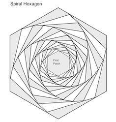 Spiral Patterns for paper piecing