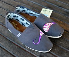LOVE ALWAYS Mustache TOMS by BStreetShoes on Etsy, $89.00