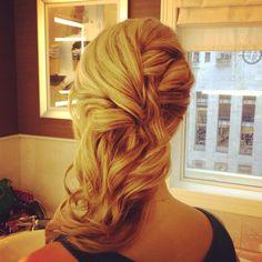side half up half down udpo wedding hair