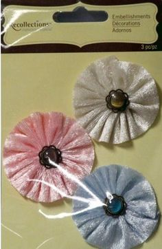 Recollections Signature Special Velvet Pastels Gem Flowers Embellishments are available at Scrapbookfare.com.