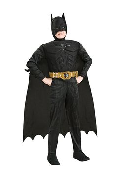 Amazon.com: Batman Dark Knight Rises Child's Deluxe Muscle Chest Batman Costume with Mask, Small: Toys & Games