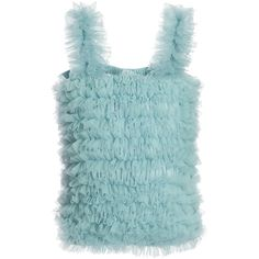 ANGEL'S FACE Pale Green Tulle Net Frilled Top