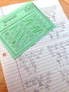 Such a fun worksheet for reviewing multi-step equations with my Algebra 1 and 8th grade math students. I love doing maze activities like this in my math classroom because students always seem so engaged. Solving equations is such a useful secondary math 8th Grade Math Worksheets, Algebra Activities, Printable Math Worksheets, Math Resources, Printables, Maze Worksheet, Solving Equations, Secondary Math, Algebra 1