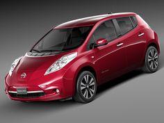 3D 2014 Nissan Leaf Model - 3D Model