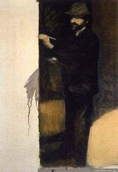 Autorretrato pintando  1986