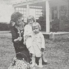 This circa 1921-22 photo shows Edie and little Phe with their grandmother, Marga Caroline Bouvier at Wildmoor before the family moved to Grey Gardens.