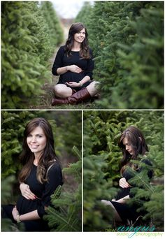 Omg this is beautiful for a fall/winter maternity session. Buut u could even take ur fall pics in the midst of Christmas trees Winter Maternity Photos, Maternity Poses, Maternity Portraits, Winter Photos, Maternity Photographer, Maternity Pictures, Maternity Outfits, Christmas Photography, Winter Photography
