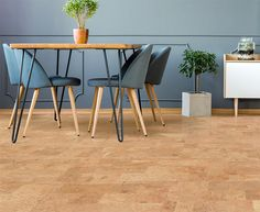 Floating Cork Floors - Leather Cork is a pattern that is famous. Leather has made a comeback since being produced as a floating cork floor. Cork Flooring, Kitchen Flooring, Floor Finishes, Flooring Options, Apartment Interior, Floor Design, Furniture Styles, Grey Walls, Home Projects
