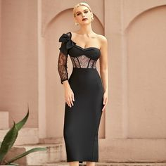 Color: Black Style: Sexy & Club Pattern Type: Solid Material: Polyester, Spandex The post Sexy Embroidered Mesh Backless Split Bandage Dress appeared first on TD Mercado. Strapless Dress Formal, Formal Dresses, Maxi Dresses, Party Dresses, Black Style, Color Black, Colour, Curvy Plus Size, Classy Outfits