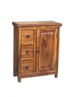Offering three draws and one door, this cabinet made from sustainable sheesham wood is the perfect storage space for all your belongings.