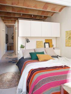 Bedroom Ceiling, Home Decor Bedroom, Bedroom Furniture, Bedroom Bed, Beautiful Interiors, Beautiful Homes, House Beautiful, Mexican Bedroom, Design Case