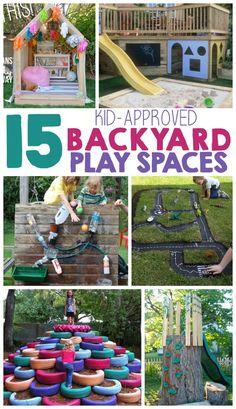 I LOVE all of the amazing play spaces! Such great outdoor ideas!