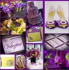 Purple and green wedding theme.