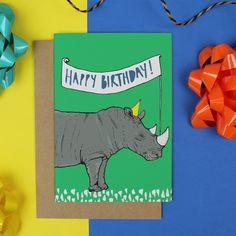 Rhino Birthday Card