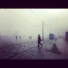 A foggy day in Oslo.. at the Raadhusplace