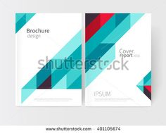 Cover design. Brochure, flyer, annual report cover template. a4 size. Geometric Absract background. blue and red diagonal lines. vector-stock illustration EPS 10 - stock vector