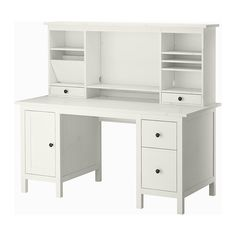 Hemnes Desk With Add-on Unit, White Stain