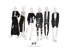 Fashion Sketchbook - fashion illustrations; collection line up; fashion portfolio // Verity Germer