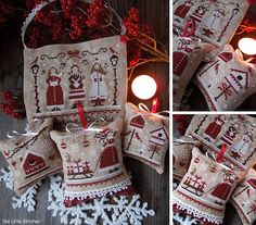 Red Christmas  The Colors of Christmas  PDF di LittleStitcherShop