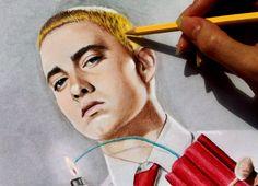 Watch speed drawing of Eminem