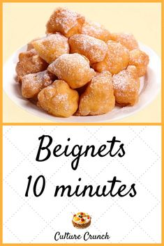 Beignets, Flan, French Desserts, Doughnuts, Biscuits, Deserts, Brunch, Food And Drink, Tasty