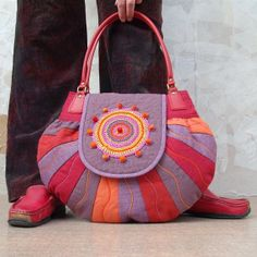 Round as the world unique handcrafted bag