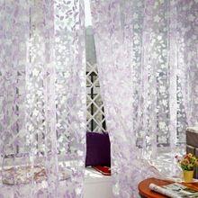 House Beautiful Stylish Tulle Pastoral Home Curtains Window Screens Door Balcony Curtain Panel Sheer Scarfs(China (Mainland))