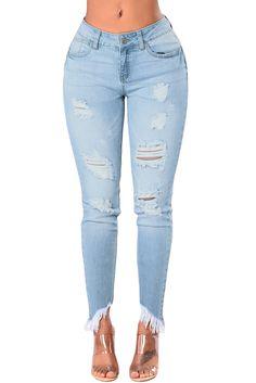 3ebc5f90e85 US  10.58 Light Blue Whiskered Destroy Stylish Skinny Jeans Cheap Jeans  Online