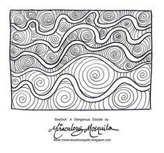 Dangerous Doodles #zentangle #drawing #line
