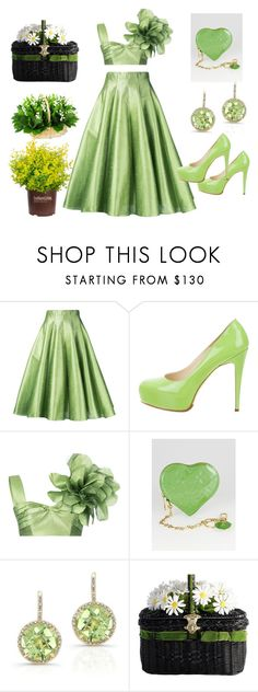 """""""Lets Go Green"""" by zulpha-mohamed ❤ liked on Polyvore featuring Bambah, Brian Atwood, Louis Vuitton and Anne Sisteron"""