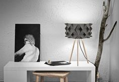 Table lamp High Frame Textured Grey By Difuse